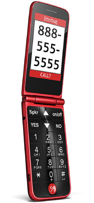 Jitterbug Flip Free Phones for seniors