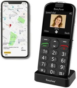 Easyfone Prime-A4 with GPS Localization