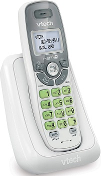 VTech – CS6114 DECT 6.0 Digital Cordless Phone with Caller ID/Call Waiting – White