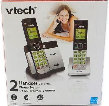 VTech CS5119-2 DECT 6.0 Expandable Cordless Phone – 2 Handsets